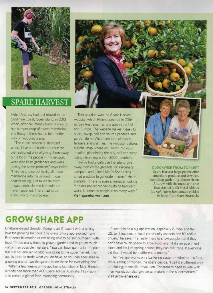 Gardening Australia story with Spare Harvest Page 3