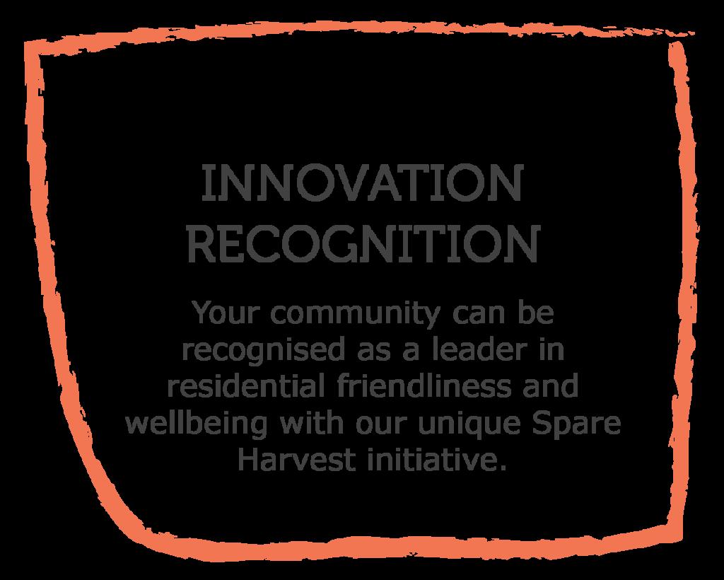 Spare Harvest Community Partnership benefits: Innovation recognition, Community sustainability initiatives, sustainable community environments, UN SDG, UN Sustainable Development Goals